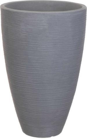 Květináč žebrovaný 40 x 60 cm šedá