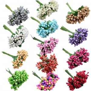 Kvetinová dekorácia - 13 farieb Farba: červená