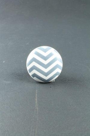 La finesse Porcelánová úchytka Chevron Grey