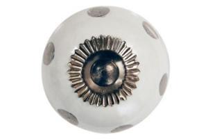 La finesse Porcelánová úchytka Silver dots