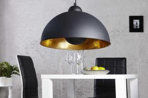 Lampa Atelier čierno-zlatá