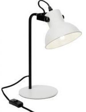 Lampa na písací stôl Brilliant Ester LED , Typ pätice=E14, 25 W, biela (matná), čierna