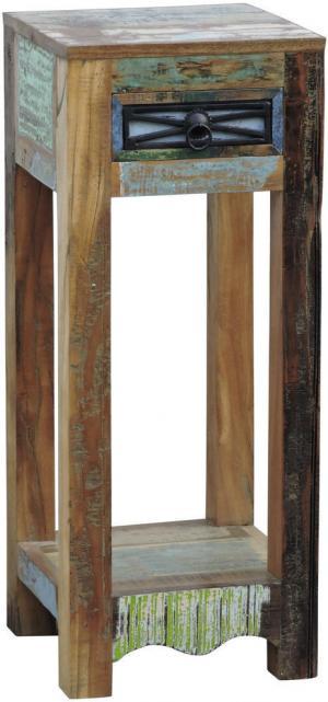 Landscape ODKLADACÍ STOLÍK, staré drevo, viacfarebná - viacfarebná