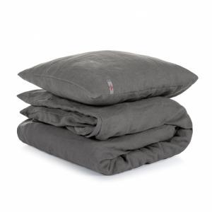 Ľanové detské obliečky Dark Grey 90x135, 40x60