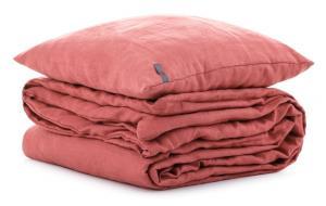 Ľanové detské obliečky Rustikálne ružové 90x135, 40x60