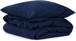 Ľanové obliečky Navy Washed 200x200, 70x50