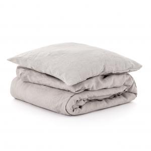 Ľanové obliečky Svetlo šedá 140x200,50x70