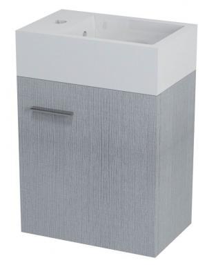 Latus V LT510 umývadlová skrinka 35,6x40x23 cm, dub strieborný