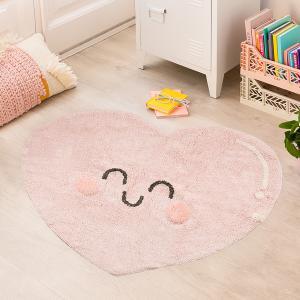 LC Detský prateľný koberec Happy Heart
