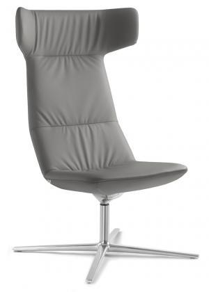 LD SEATING Designové kreslo FLEXI/XL, F27-N0, kríž bílý