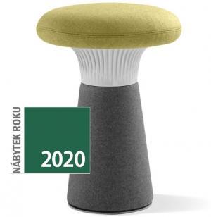 LD SEATING designový taburet FUNGHI-N2 40/50, sivý plast