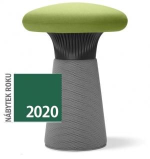 LD SEATING dizajnový taburet FUNGHI-N1 40/50, čierny plast