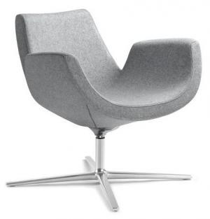 LD SEATING Konferenčné kreslo RELAX+ S, F27-N0, kríž hliník bílý