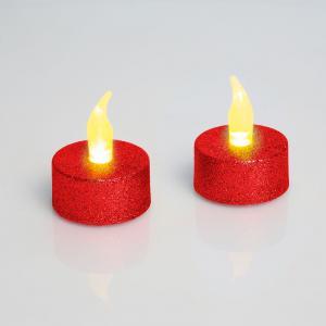 LED čajová sviečka s batériou ako darček