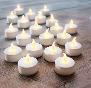 LED čajové sviečky, 20 kusov