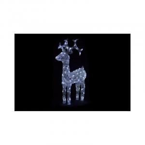 LED dekorácia - vianočný sob - 100cm biele svetlo