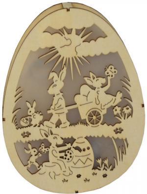 LED dekoračné vyrezávané vajíčko Zajačikovia