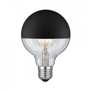 LED GLOBE G95 6W Filament čierny vrchlík