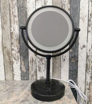 LED kosmetické zrcátko OGB, černé