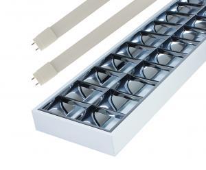 LED Solution Prisadené žiarivkové svietidlo 120cm + 2x LED trubice 18W Economy+ Barva světla: Denná biela GXRP040-ECONSET-DB