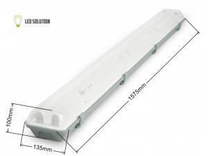 LED Solution Žiarivkové teleso 150cm + 2x LED trubice 22W Economy+ Barva světla: Studená biela TL3903A-2X58/B/1_6308