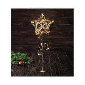 LED svietiaca dekorácia v zlatej farbe Markslöjd Hagaberg Gold, výška 45 cm