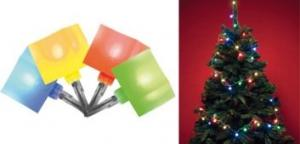 LED svietiaci reťazec, kocka, 8 programov, 6m, 230V, KLC 48/M Somogyi
