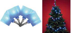 LED svietiaci reťazec - kocka, modrá, 8 programov KLC 48/BL, Somogyi