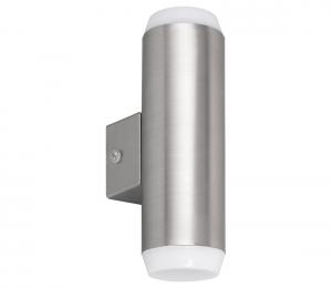 Rabalux 8938 - LED Vonkajšie nástenné svietidlo CATANIA 2xLED/4W/230V IP44 saténový chróm