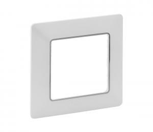 Legrand 754031 - Rámik pre spínače VALENA LIFE 1P biela/chróm