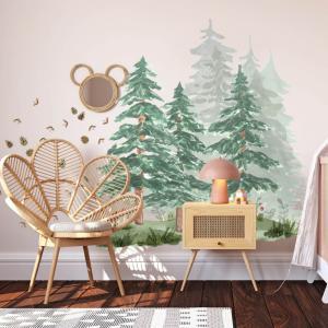 Lesná krajina v detskej izbe
