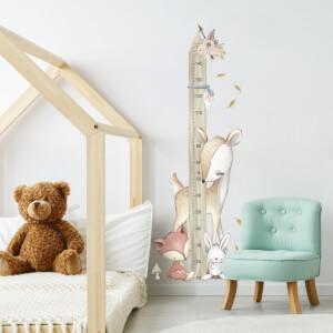Lesné zvieratká - nálepka meter na stenu