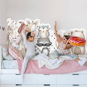 Lesné zvieratká - nálepka za posteľ