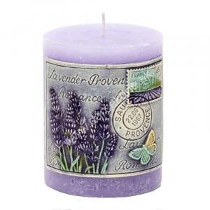 levanduľová sviečka valec 7 x 9,5 cm