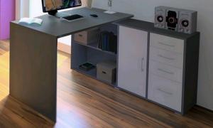 Rohový písací stôl Lift AS69