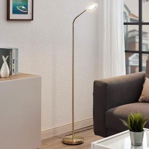 Lindby LED lampa na čítanie Meghan nastaviteľná mosadz