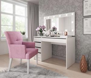 LM Biely toaletný stolík ANIA