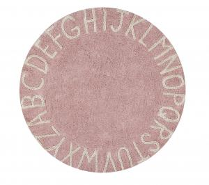 Lorena Canals koberce Ručně tkaný kusový koberec Round ABC Vintage Nude-Natural - 150x150 (průměr) kruh cm