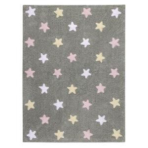 Lorena Canals koberce Ručně tkaný kusový koberec Tricolor Stars Grey-Pink - 120x160 cm