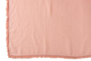 Lososový ľanový pléd so strapcami Franje - 150 * 200 cm