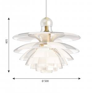 Louis Poulsen Louis Poulsen PH Septima závesná lampa sklo Ø 50cm