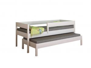LU Detská posteľ s prístelkou Junior - biela Rozmer: 180x80