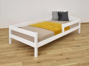 LU Drevená posteľ Lipa - biela Rozmer: 200x90