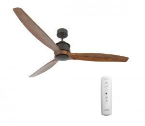 Lucci air 210507 - Stropný ventilátor AIRFUSION AKMANI čierna/hnedá