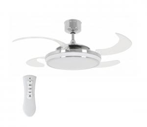 FANAWAY 211036 - LED Stropný ventilátor EVO1 LED/40W/230V chróm