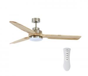 Lucci air 213053 - LED Stropný ventilátor SHOALHAVEN GX53/17W/230V chróm/drevo