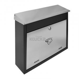 LUX1 poštová schránka, Čierna+ nerez
