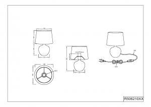 LUXOR S   luxusná stolná lampa Farba: Biela/Strieborná