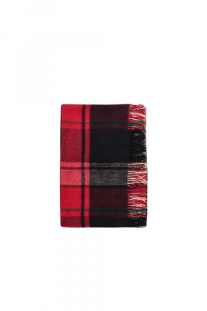 Luxusná deka z novozélandskej vlny červená