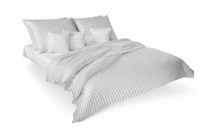 Luxusné damaškové obliečky PREMIUM ATLAS STRIPE TIROL - 4 set | Biela | 2x 140x200 + 2x 70x90